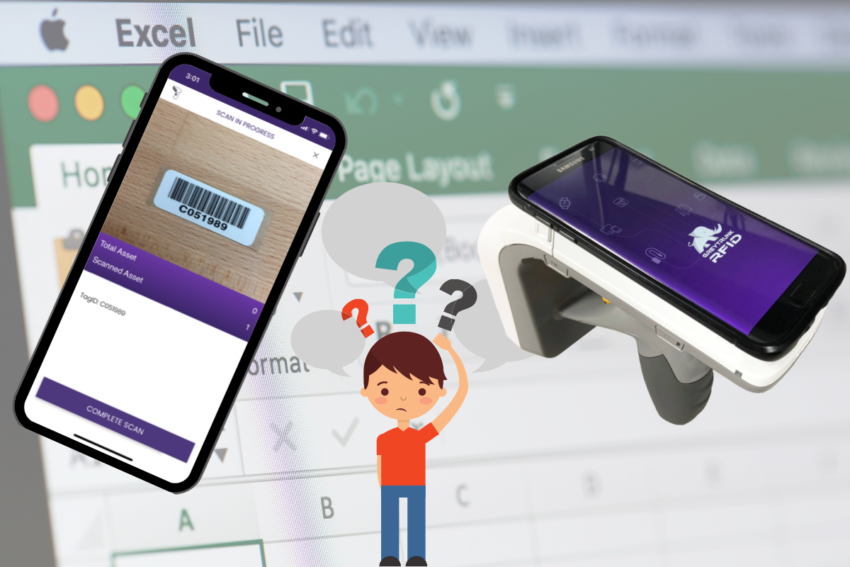 Types of fixed asset tracking - excel file, barcode, RFID